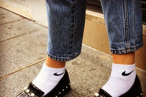 Chaussures Vintage et chaussettes Nike