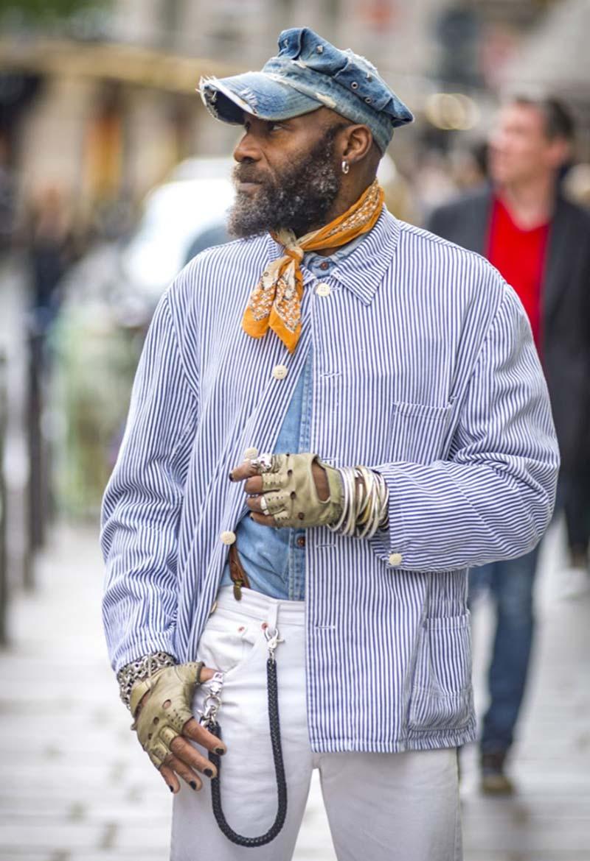 Chemise à rayures Homme Hippy Style