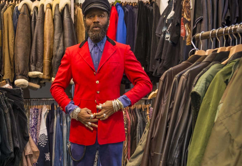 Veste rouge Vintage Homme