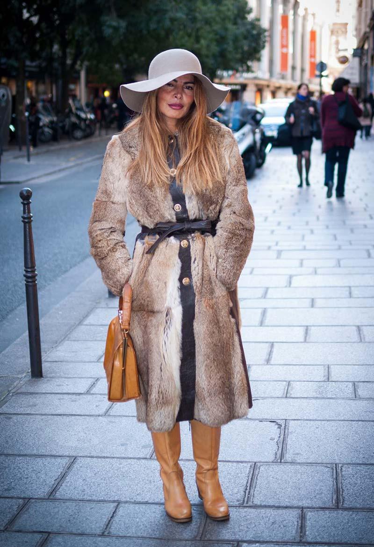 Manteau à fourrure Femme Vêtements Vintage